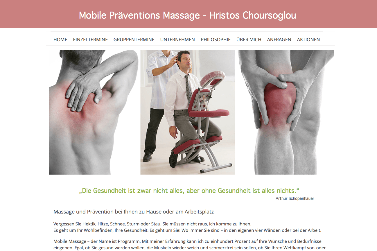 Mobile Präventions Massage